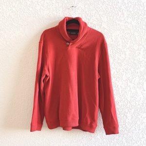 Tasso Elba Mens French Rib Shawl Collar Sweater
